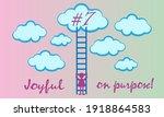 positive mindset  optimistic... | Shutterstock .eps vector #1918864583