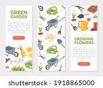 green garden  growing flowers... | Shutterstock .eps vector #1918865000