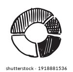 pie diagrams hand drawn icons.... | Shutterstock .eps vector #1918881536