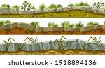 set of seamless border old gray ...   Shutterstock .eps vector #1918894136