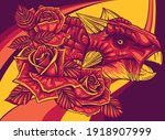 dinosaurus ankylosaurus head... | Shutterstock .eps vector #1918907999