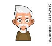 old man cartoon icon. cute... | Shutterstock .eps vector #1918919660