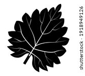 Black Nettle Leaf Logo With...