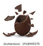 Broken Milk Chocolate Egg On...