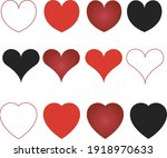 collection of heart...   Shutterstock .eps vector #1918970633