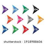 arrow style directional number... | Shutterstock .eps vector #1918988606