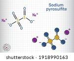 sodium metabisulfite  sodium... | Shutterstock .eps vector #1918990163