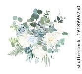 silver sage green  mint  blue ...   Shutterstock .eps vector #1918996250