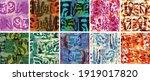 vector seamless pattern set.... | Shutterstock .eps vector #1919017820