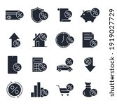 set of credit and loan icon....   Shutterstock .eps vector #1919027729