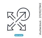 scaling arrow icon. resize...