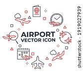 set of airport icon. airport...   Shutterstock .eps vector #1919027939