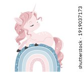 vector illustration of a cute... | Shutterstock .eps vector #1919037173