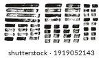 flat paint brush thin straight...   Shutterstock .eps vector #1919052143