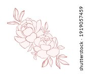 line art floral arrangement...   Shutterstock .eps vector #1919057459