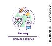 honesty concept icon.... | Shutterstock .eps vector #1919060819