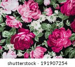 fragment of colorful retro with ... | Shutterstock . vector #191907254