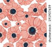 anemone pattern | Shutterstock . vector #191907659