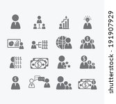 business human icons  | Shutterstock .eps vector #191907929