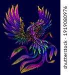 phoenix. abstract  color  neon  ... | Shutterstock .eps vector #1919080976