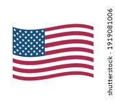 usa flag. state flag of united... | Shutterstock .eps vector #1919081006