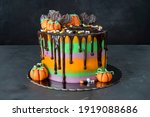 Cake For Halloween With...
