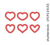 hearts vector icon collection.... | Shutterstock .eps vector #1919114153