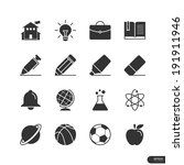 education and school icons on... | Shutterstock .eps vector #191911946
