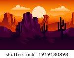 desert landscape. desert area ...   Shutterstock .eps vector #1919130893
