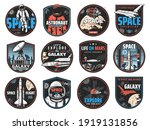 space retro badges with vector... | Shutterstock .eps vector #1919131856