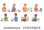 buyer men  women buying... | Shutterstock .eps vector #1919143619