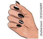 female hand with beautiful...   Shutterstock .eps vector #1919144099