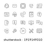 help and support line icon set. ... | Shutterstock .eps vector #1919149310