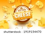 cheese label eco food poster ... | Shutterstock .eps vector #1919154470