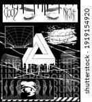 brutalism collection images for ... | Shutterstock .eps vector #1919154920