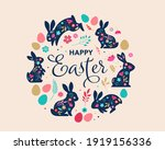 Happy Easter  Decorated Easter...