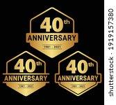 40 years anniversary...   Shutterstock .eps vector #1919157380
