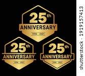 25 years anniversary... | Shutterstock .eps vector #1919157413