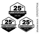 25 years anniversary... | Shutterstock .eps vector #1919157416