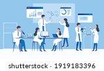 professional scientists ... | Shutterstock .eps vector #1919183396