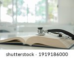Stethoscope On Medical Guide...