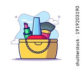 bag and cosmetic to women day... | Shutterstock .eps vector #1919203190