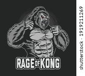Gorilla Kong Gets Angry And...