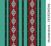 etnik tenun pattern design... | Shutterstock .eps vector #1919234246