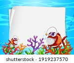 Blank Paper Banner With Exotic...
