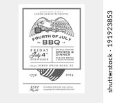 vintage 4th of july... | Shutterstock .eps vector #191923853