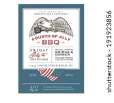 vintage 4th of july... | Shutterstock .eps vector #191923856