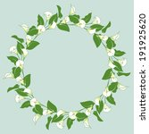 floral wreath with bunches of... | Shutterstock . vector #191925620