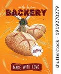 realistic bread poster with... | Shutterstock .eps vector #1919270279