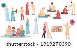 muslim people in different... | Shutterstock .eps vector #1919270390